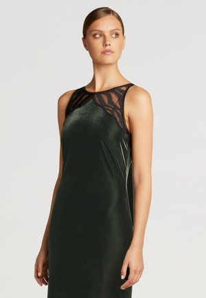 Etui-jurk - dark green/black