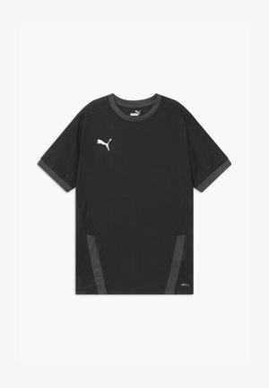 Print T-shirt - puma black/asphalt