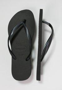 Havaianas - KIDS SLIM - Chanclas de dedo - black - 4