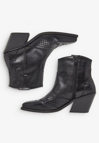 Bianco - Cowboy/biker ankle boot - black - 4