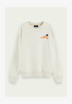 WITH VARIOUS ARTWORKS - Sweater - off white melange