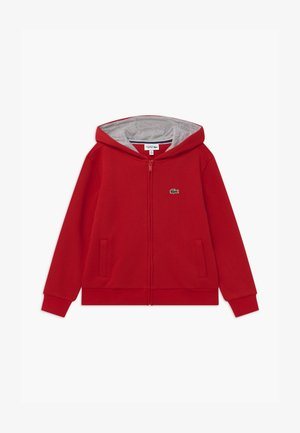 TENNIS - Zip-up hoodie - red/silver chine