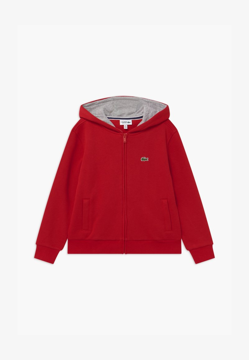 Lacoste Sport - TENNIS - Zip-up hoodie - red/silver chine