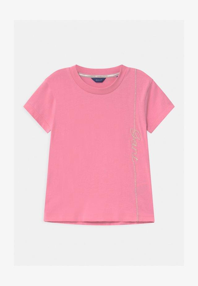 SCRIPT - T-shirt imprimé - sea pink