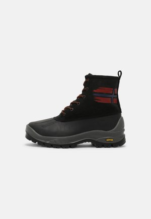 PEAK - Šněrovací kotníkové boty - black