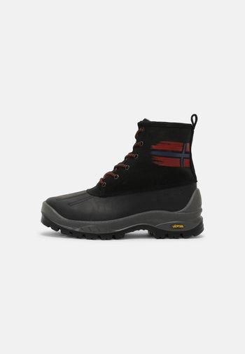 PEAK - Lace-up ankle boots - black