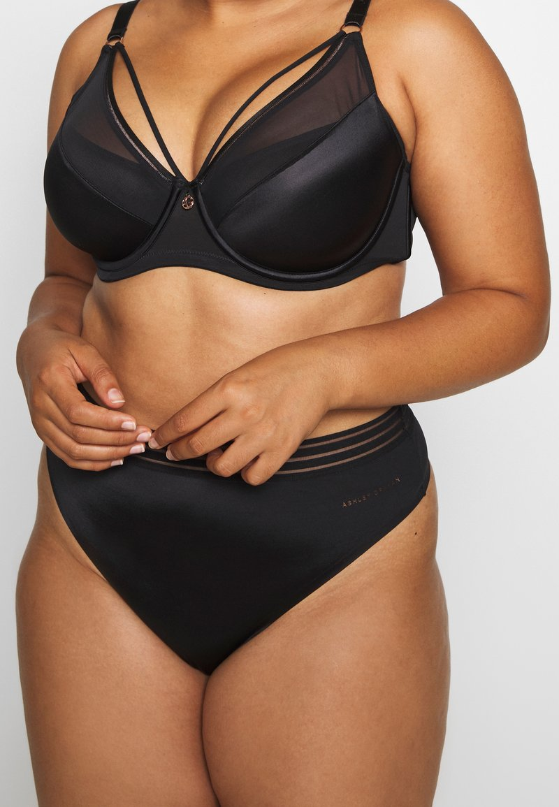 Ashley Graham Lingerie by Addition Elle - ESSENTIAL THONG - String - black