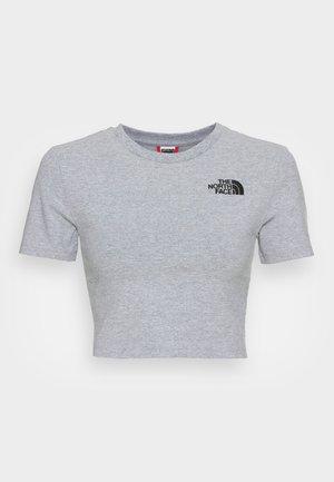 CROP  - T-shirts med print - light grey heather