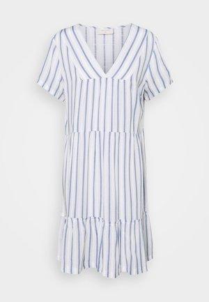 STRIPE - Day dress - chambray blue