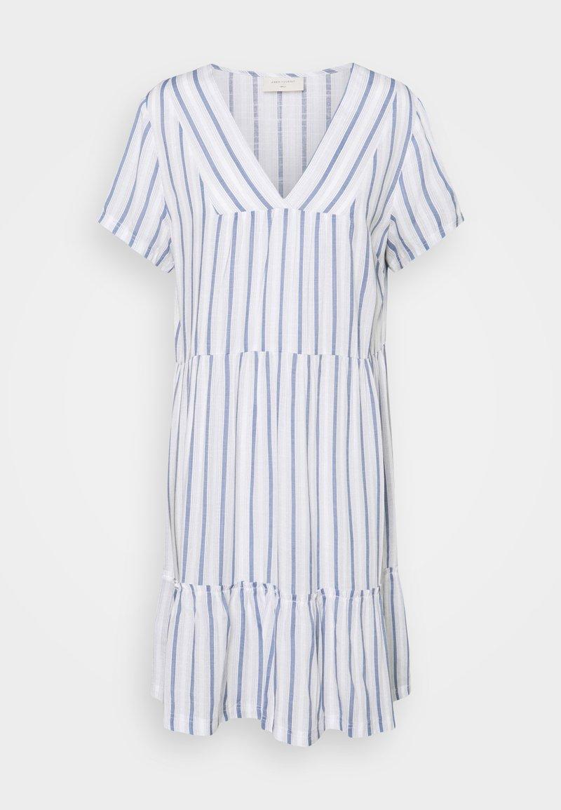 Freequent - STRIPE - Day dress - chambray blue