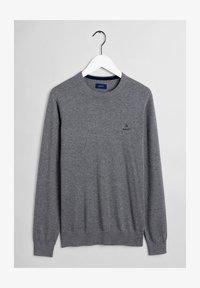 GANT - Stickad tröja - dark grey melange - 4