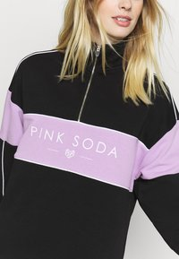 Pink Soda - BREEZE ZIP  - Sweatshirt - black/lilac