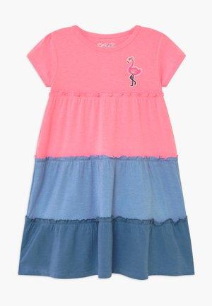 Jersey dress - neon rose