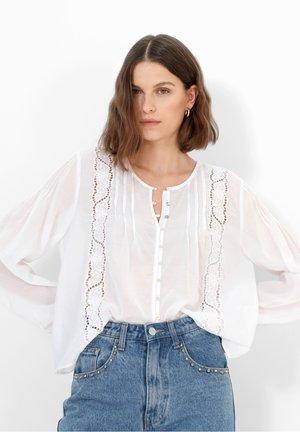 ANTIC - Bluzka z długim rękawem - white