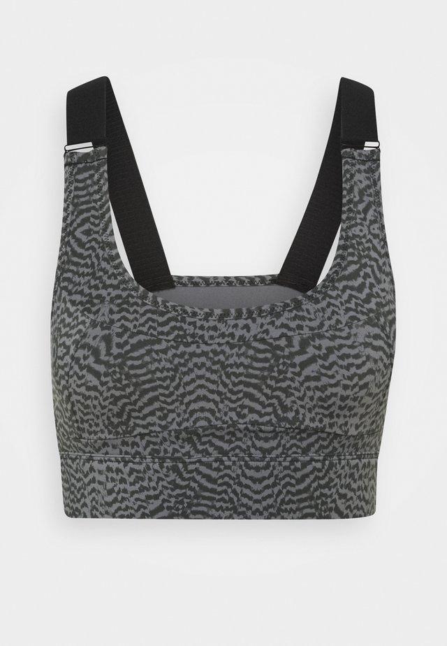 EDRIS BRA - Medium support sports bra - grey