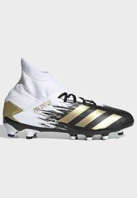 adidas Performance - PREDATOR 20.3 FOOTBALL BOOTS MULTI GROUND - Moulded stud football boots - ftwwht/goldmt/cblack - 9