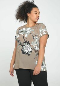 Paprika - Print T-shirt - khaki - 0