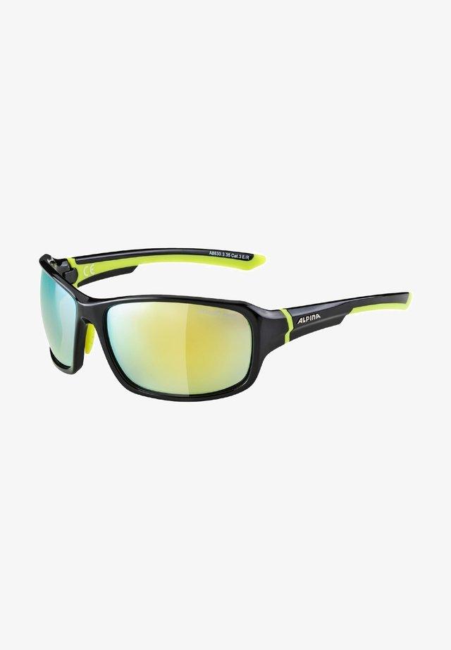 ALPINA LYRON - Sports glasses - black-neon yellow (a8630.x.35)