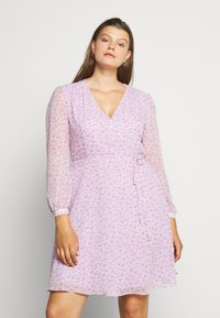 Glamorous Curve - SHEER LONGSLEEVE DRESS - Day dress - lilac lavender - 0