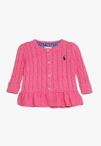 Polo Ralph Lauren - PEPLUM CARDI BABY - Kardigan - baja pink - 0