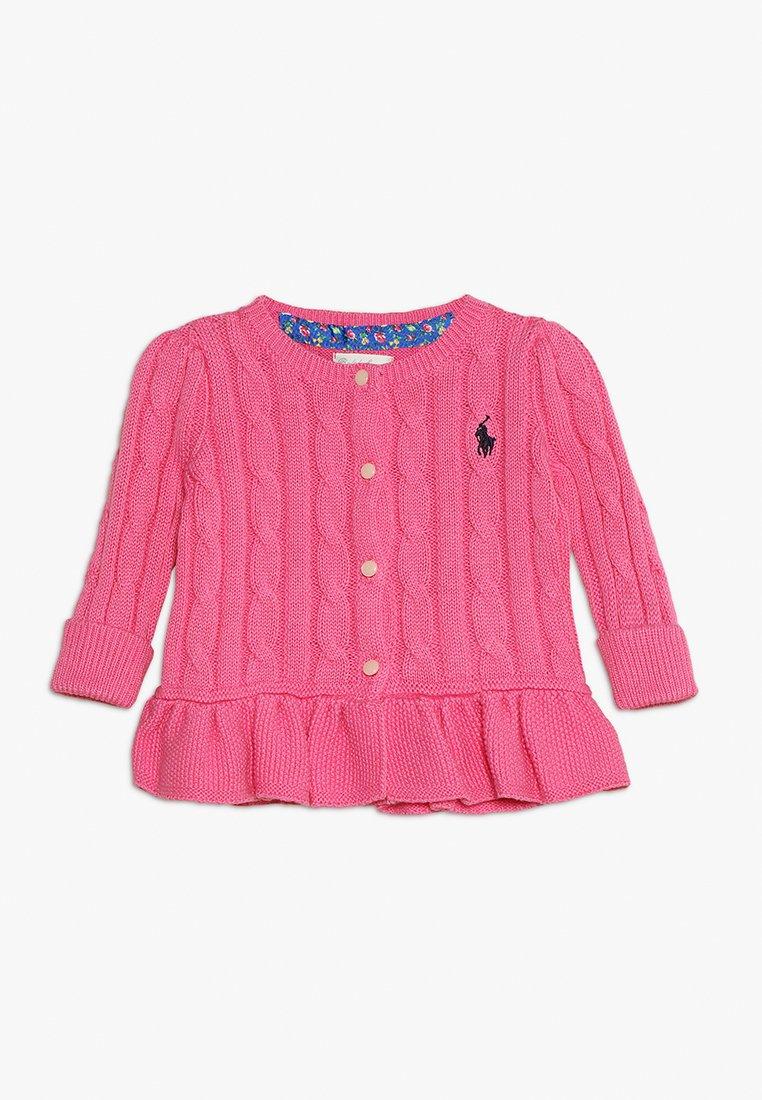 Polo Ralph Lauren - PEPLUM CARDI BABY - Kardigan - baja pink