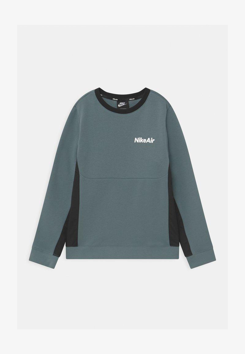 Nike Sportswear - AIR CREW - Sweatshirt - ozone blue/black