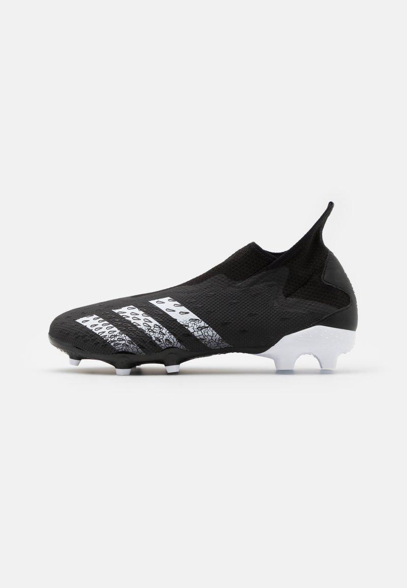 adidas Performance - PREDATOR FREAK .3 FG - Voetbalschoenen met kunststof noppen - core black/footwear white