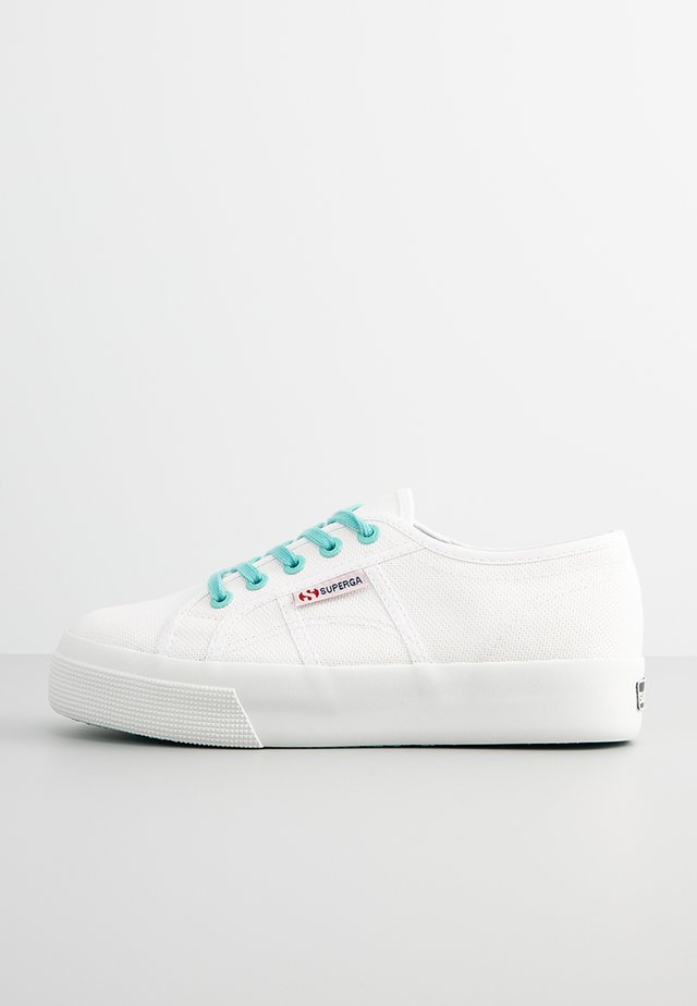 2730 COTWCONTRAST - Trainers - white-blue crystal