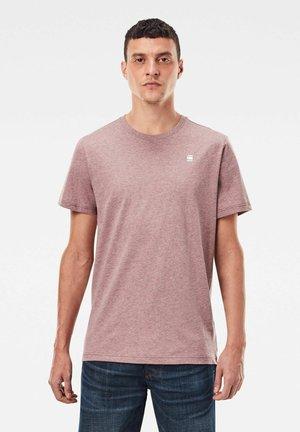 BASE-S ROUND SHORT SLEEVE - T-shirt basic - dk fig htr