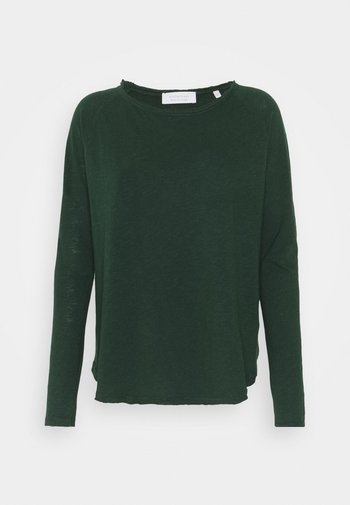 Top sdlouhým rukávem - emerald green