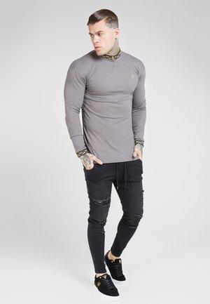 LONG SLEEVE CHAIN COLLAR CUFF - Maglietta a manica lunga - grey