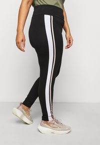 New Look Curves - DOUBLE SIDE STRIPE - Leggings - Trousers - black - 4