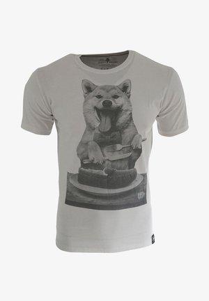 DOG´S DINNER - T-shirt print - white