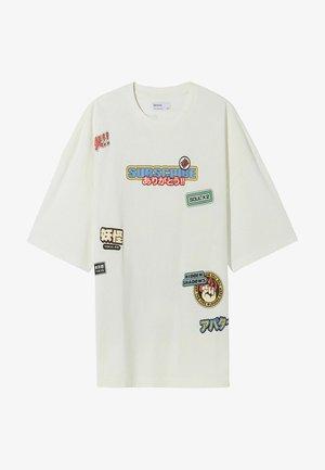 OVERSIZED - T-shirt med print - off white