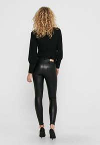 ONLY - Leather trousers - black - 2