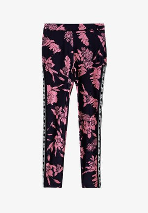Leggings - Trousers - black/pink