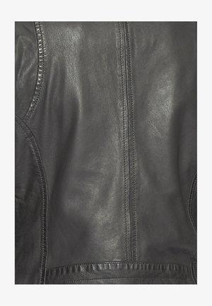 Leather jacket - grey/dark grey
