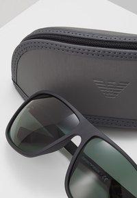 Emporio Armani - Sunglasses - matte black/green - 2