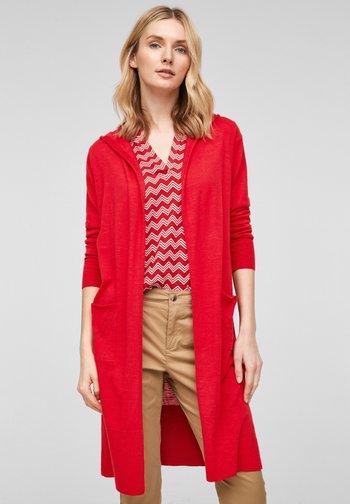MIT KAPUZE - Cardigan - red