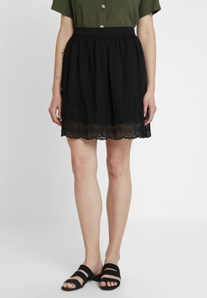 VMAISHA SHORT SKIRT - A-Linien-Rock - black
