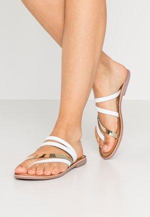 PALLINI - Sandály s odděleným palcem - blanco