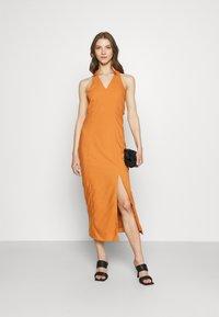 Glamorous - MAYA HALTER NECK DRESS - Maxi dress - rust - 1