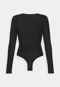 Glamorous - LONG SLEEVE BODYSUIT WITH KNOT DETAIL - Long sleeved top - black - 1