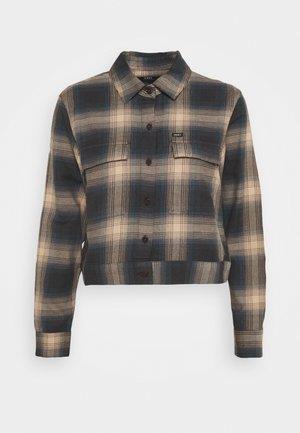 AVA BUTTON DOWN - Button-down blouse - brown/multi