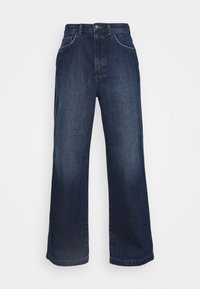 NU-IN - HIGH RISE WIDE LEG JEANS - Relaxed fit jeans - dark blue wash - 4