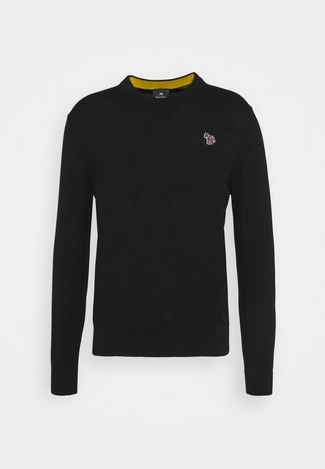 MENS CREW NECK ZEBRA - Pullover - black