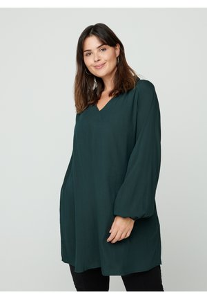 LONG-SLEEVED - Tunic - green