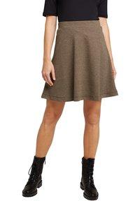 Esprit - FLARED  - A-line skirt - camel - 0