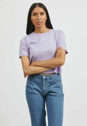 MIT KURZEN ÄRMELN  - Basic T-shirt - lavender