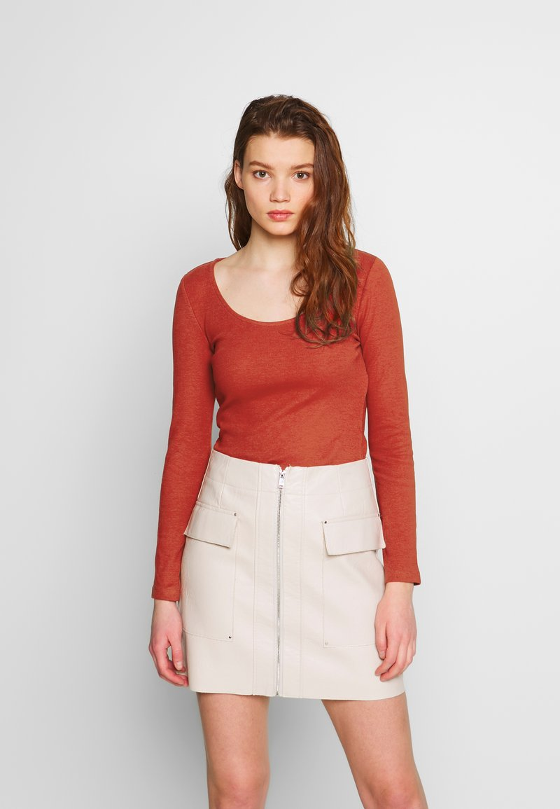 Even&Odd - Long sleeved top - potter's clay